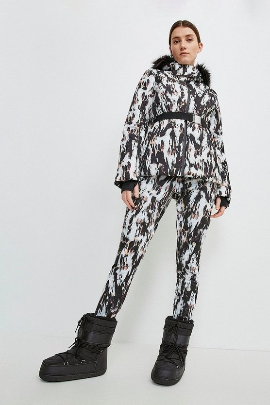 Blurred Animal Ski Trouser