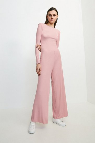 Pink Lounge Rib Shoulder Pad Jersey Body