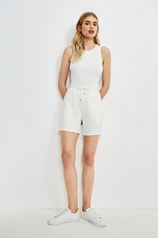 Cream Smart Ponte Lounge Short
