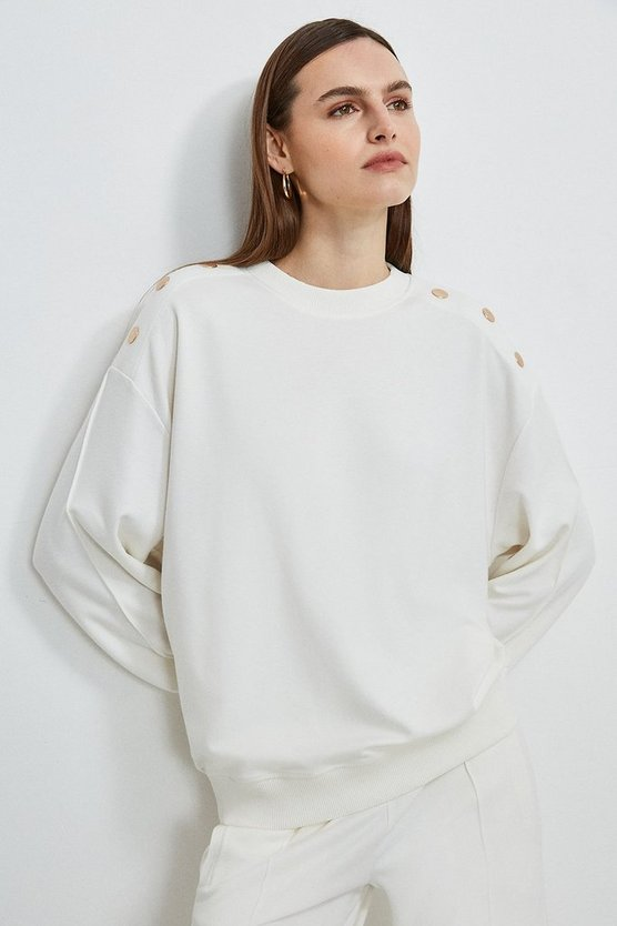 Cream Lounge Smart Ponte Sweatshirt