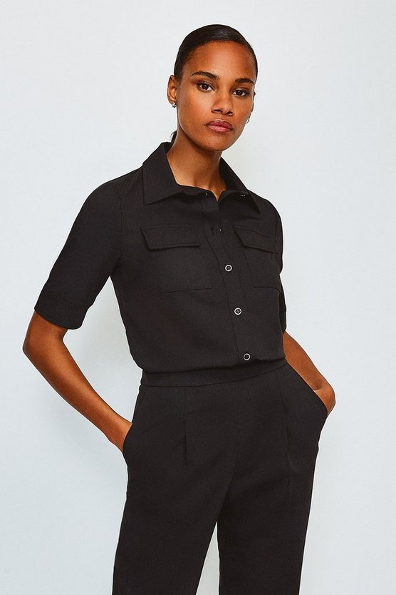 Black Clean Utility Shirt