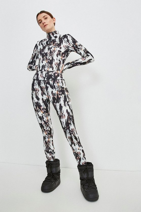 Blurred Animal Ski Legging