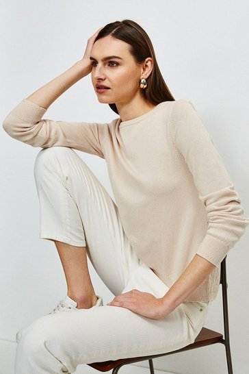 Blush Lace Knit Back Jumper
