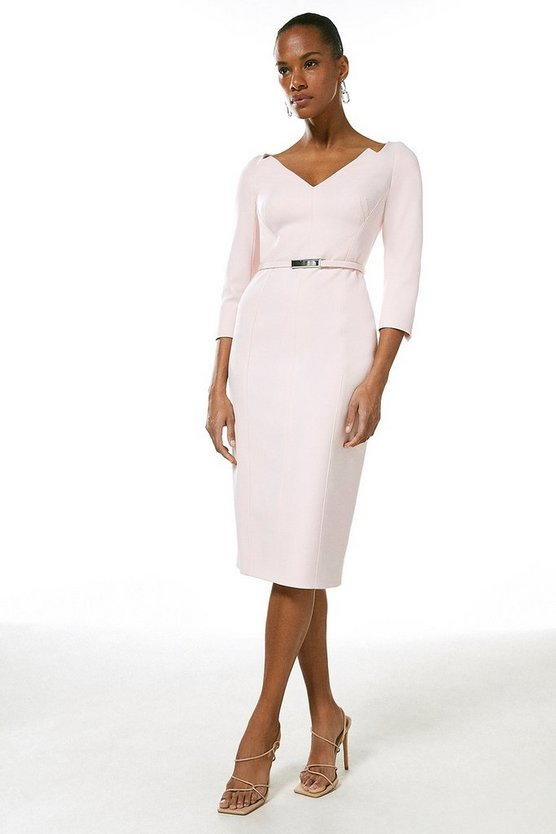 Blush Forever Bar Belt Dress