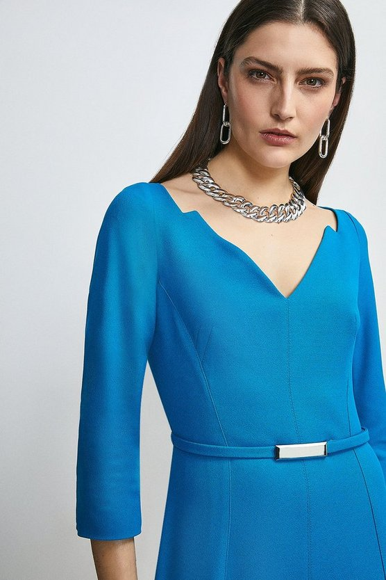 Turquoise Forever Bar Belt Dress