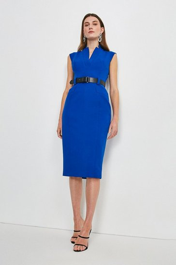 Blue Forever Cap Sleeve Dress
