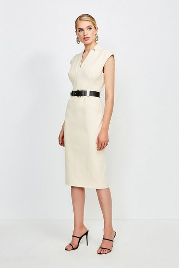 Cream Forever Cap Sleeve Dress