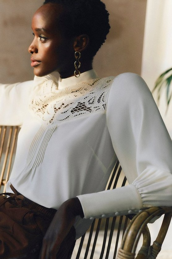 Champagne Cutwork Embroidery Blouse