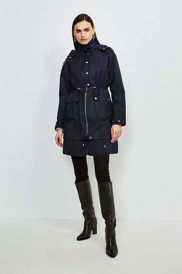 Navy Hooded Parka Mac