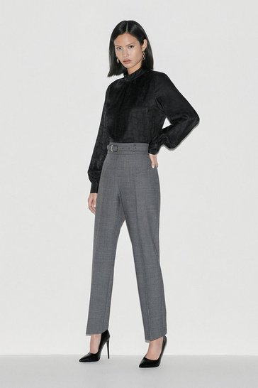 Grey Black Label Italian Stretch Wool Trouser