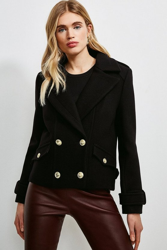 Black Wool Pea Coat