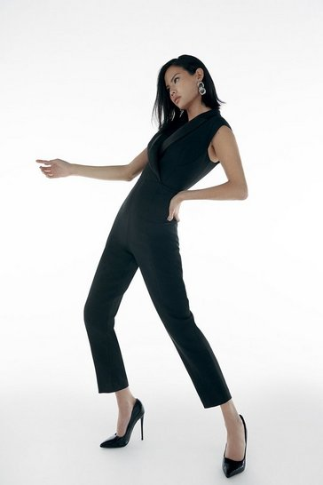 Black Italian Stretch Jumpsuit