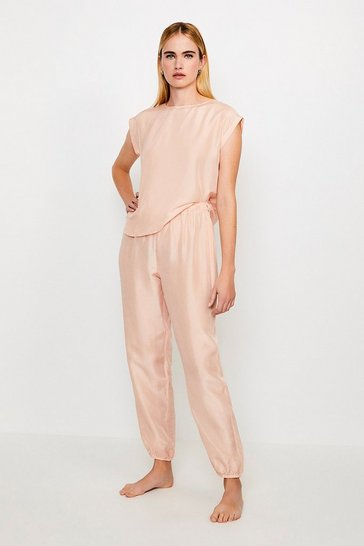 Peach Silk Lounge Jogger