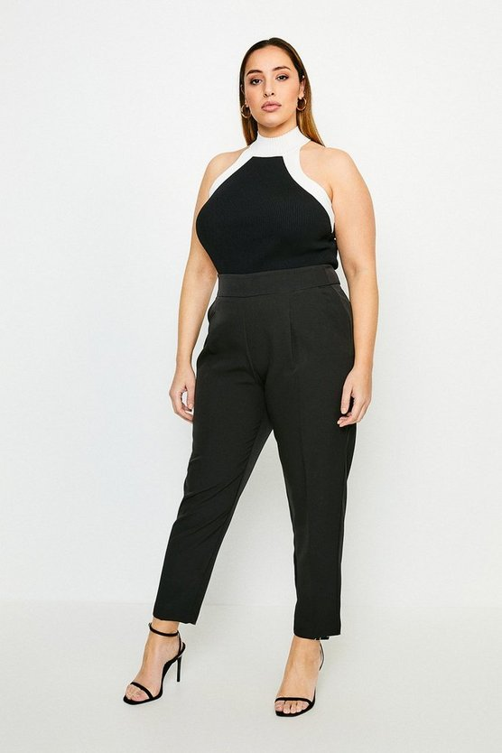 Black Curve Tailored High Waist Trouser