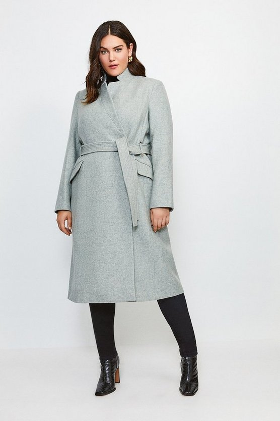 Grey Curve Investment Notch Neck Rivet Coat
