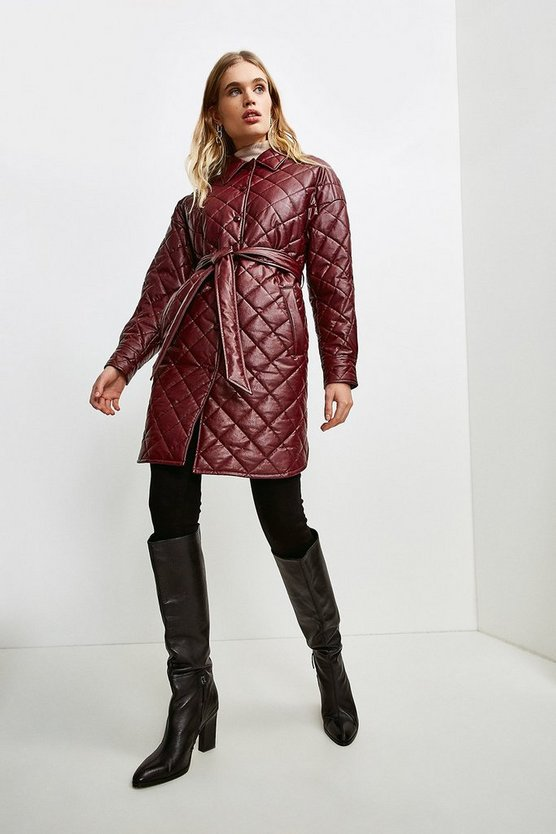 Merlot Faux Leather Quilted Mac