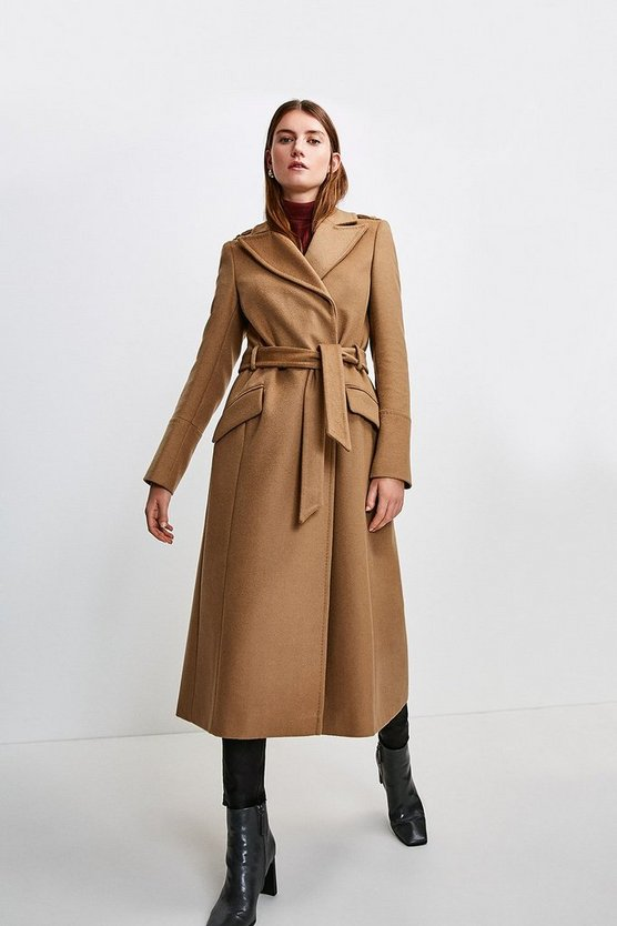 Camel Italian Virgin Wool Luxe Coat