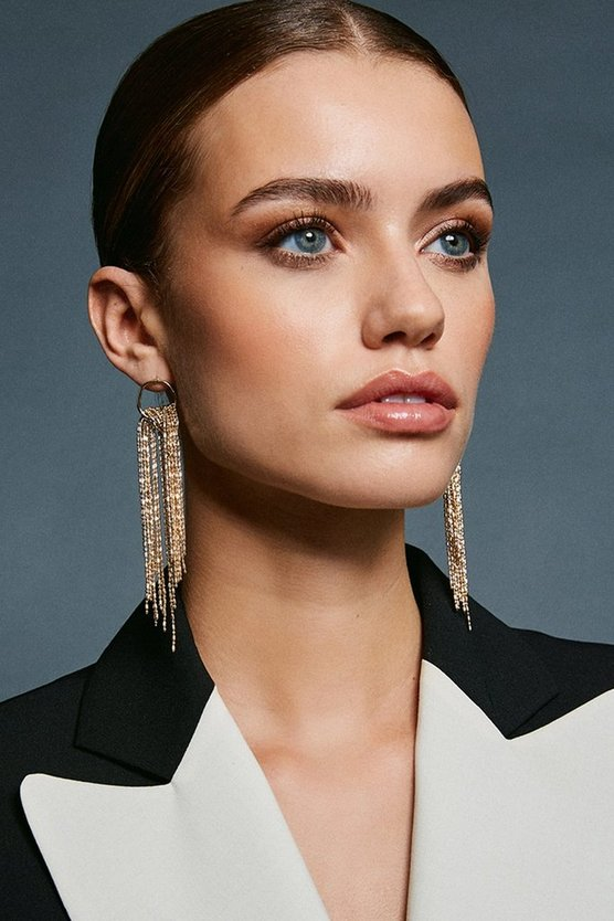 Gold Waterfall Drop Earrings