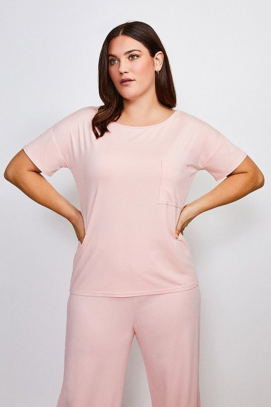 Blush Curve Lounge Viscose Jersey T- Shirt