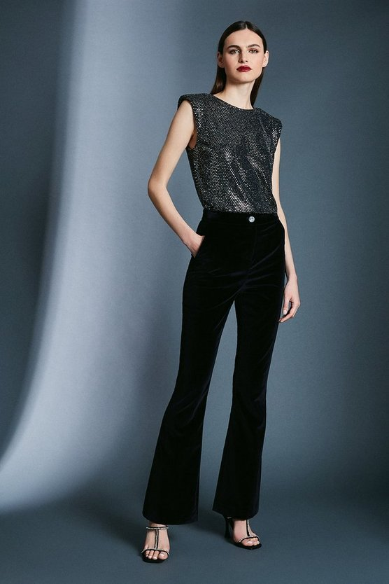 Black Signature Velvet Trouser