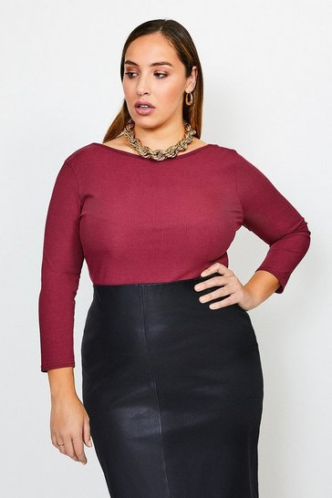 Berry Curve Jersey Scoop Back Rib Body