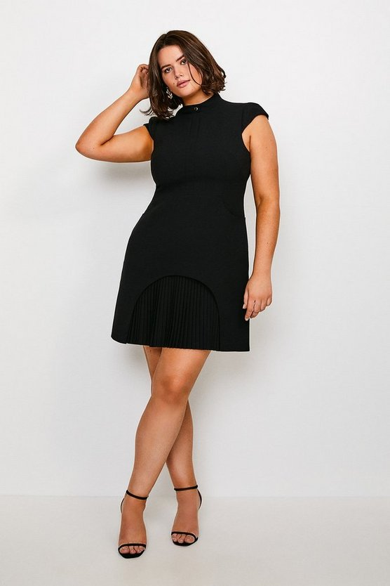 Black Curve Military Tailored Dress