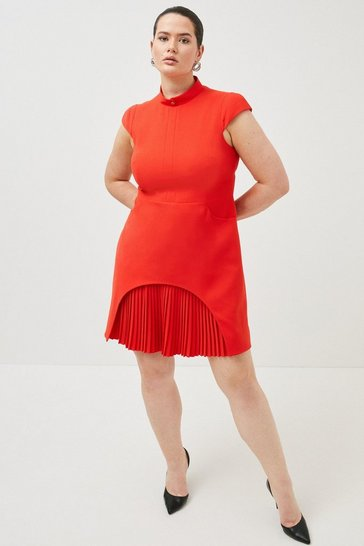 Red Curve Military Tailored Dress