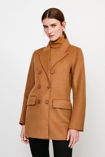 Camel Splitable Oversized Blazer