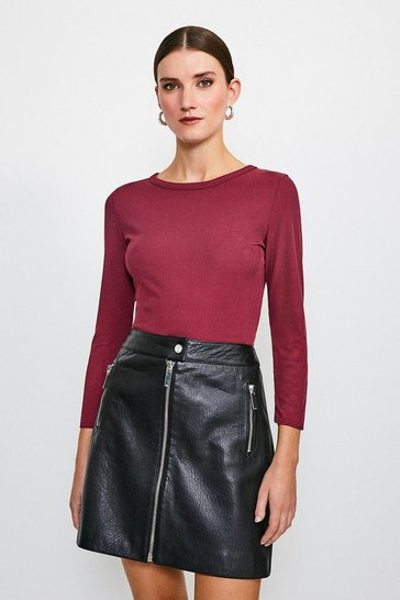 Berry Jersey Rib Top