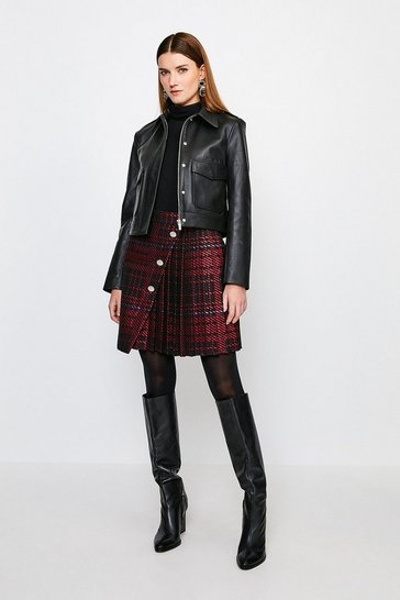 Multi  Check Kilt Skirt
