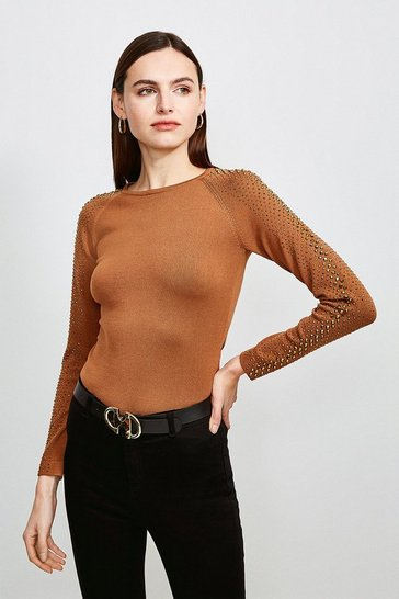 Camel Hot Fix Stud Jumper