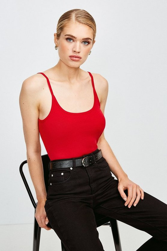 Rust Essential Cotton Cami Top
