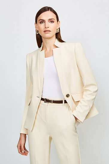Cream City Stretch Twill Single Breasted Jacket
