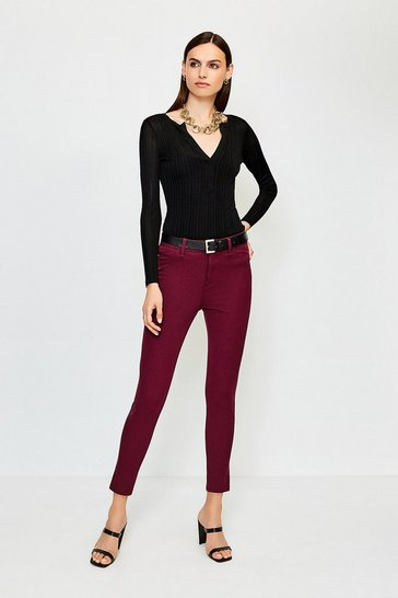 Burgundy Twill Jegging