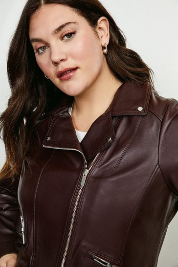Fig Curve Leather Signature Biker Jacket