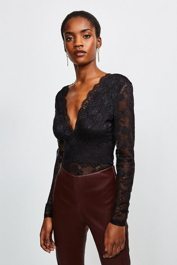 Black Lace  Deep V Body