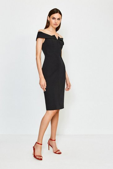 Black Forever Bardot Dress