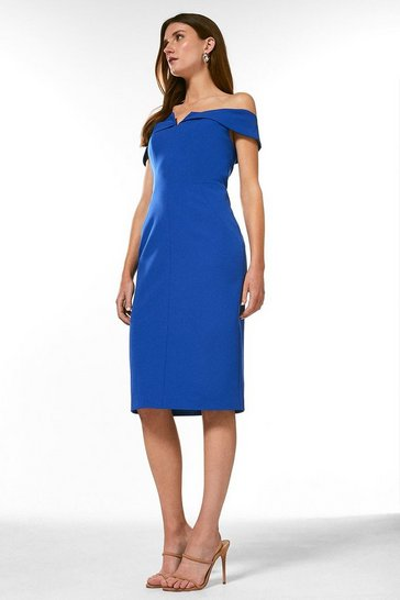 Blue Forever Bardot Dress