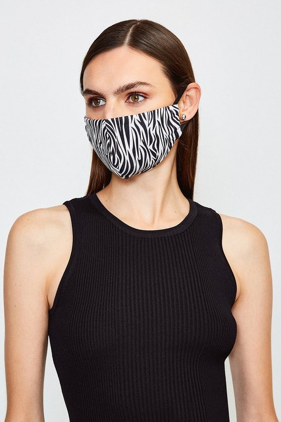 Zebra Fashion Printed Face Mask