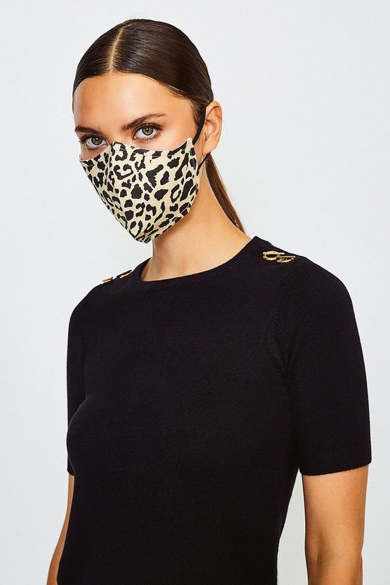 Cream Reuseable Fashion Printed Face Mask