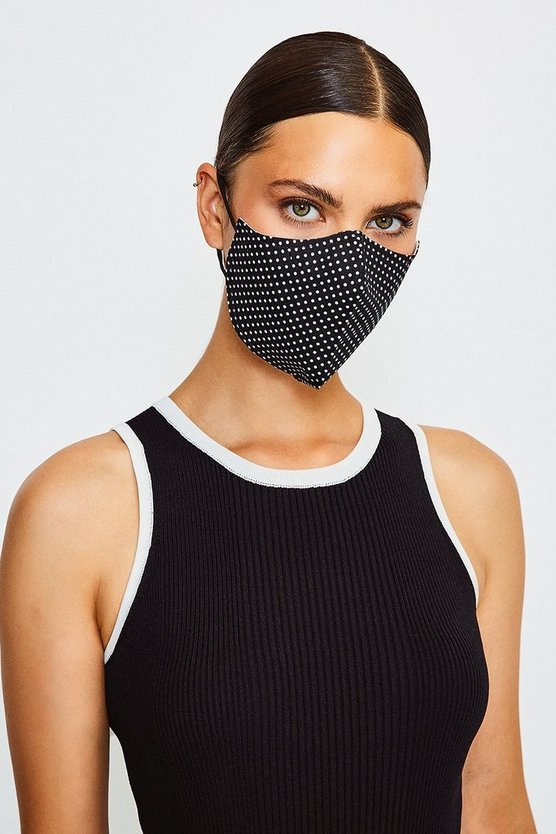 Blackwhite Reuseable Fashion Printed Face Mask