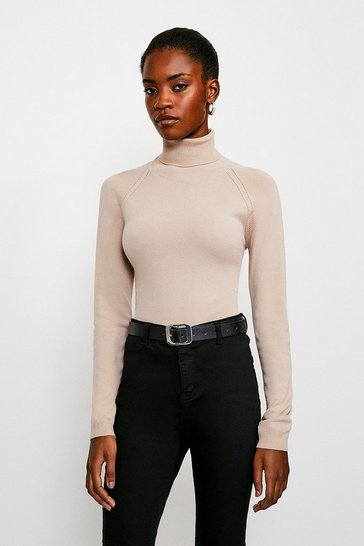 Honey Essesntial Roll Neck Jumper