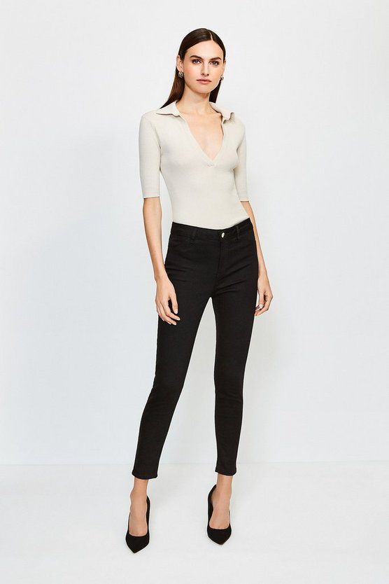 Black Twill Jegging