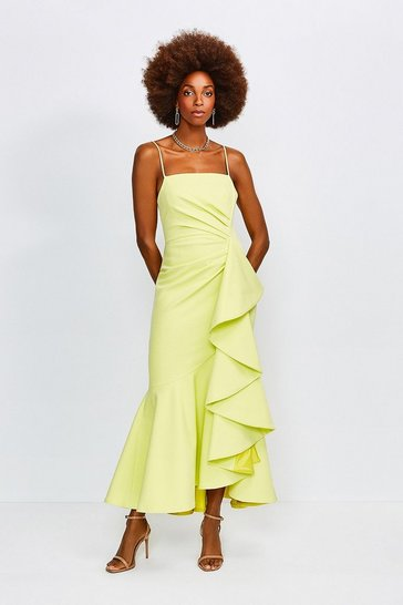 Lime Ruffle Hem Dress