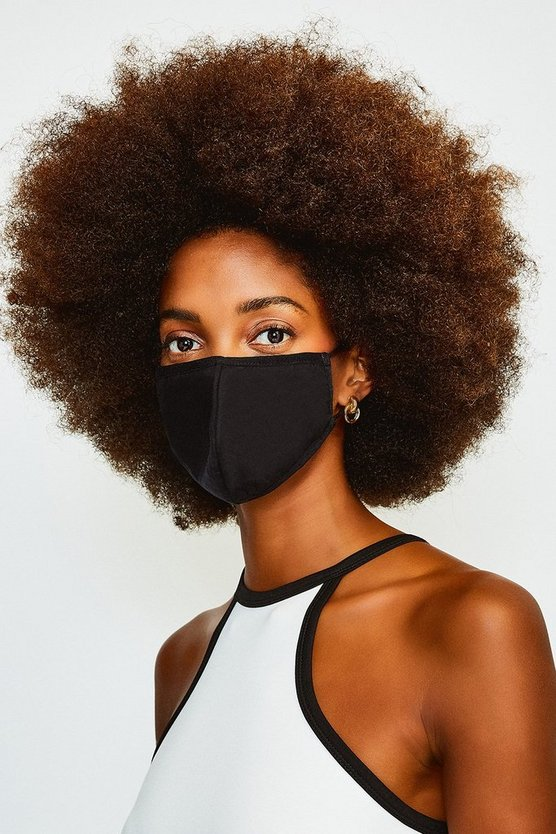Black Premium Reusable Anti-Bac Fashion Face Mask