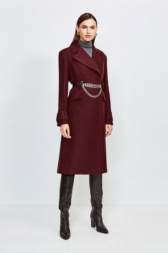 Fig Chunky Chain Wool Coat