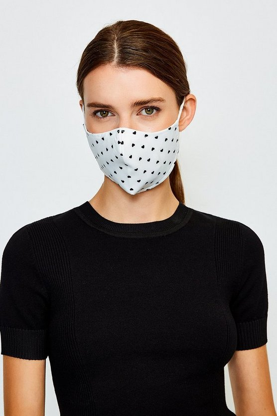 White Reuseable Fashion Face Mask With Filter
