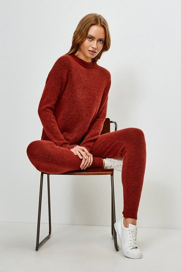 Rust Super Soft And Cosy Cuff Joggers