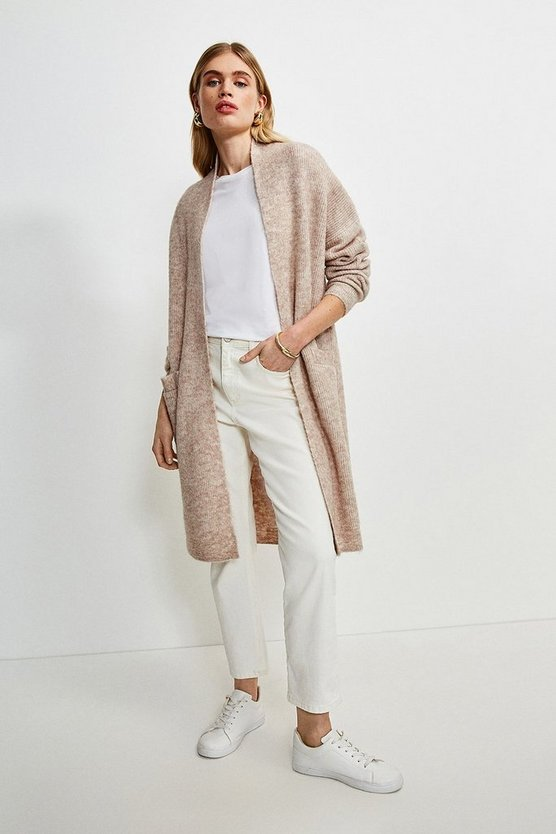 Oatmeal Super Soft And Cosy Longline Cardigan