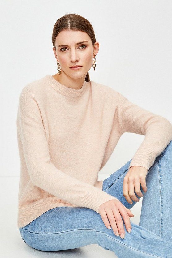 Blush Super Soft And Cosy Blend Crew Neck Jumper